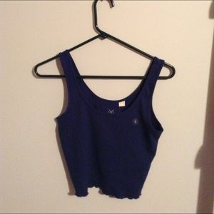 Navy cropped tank